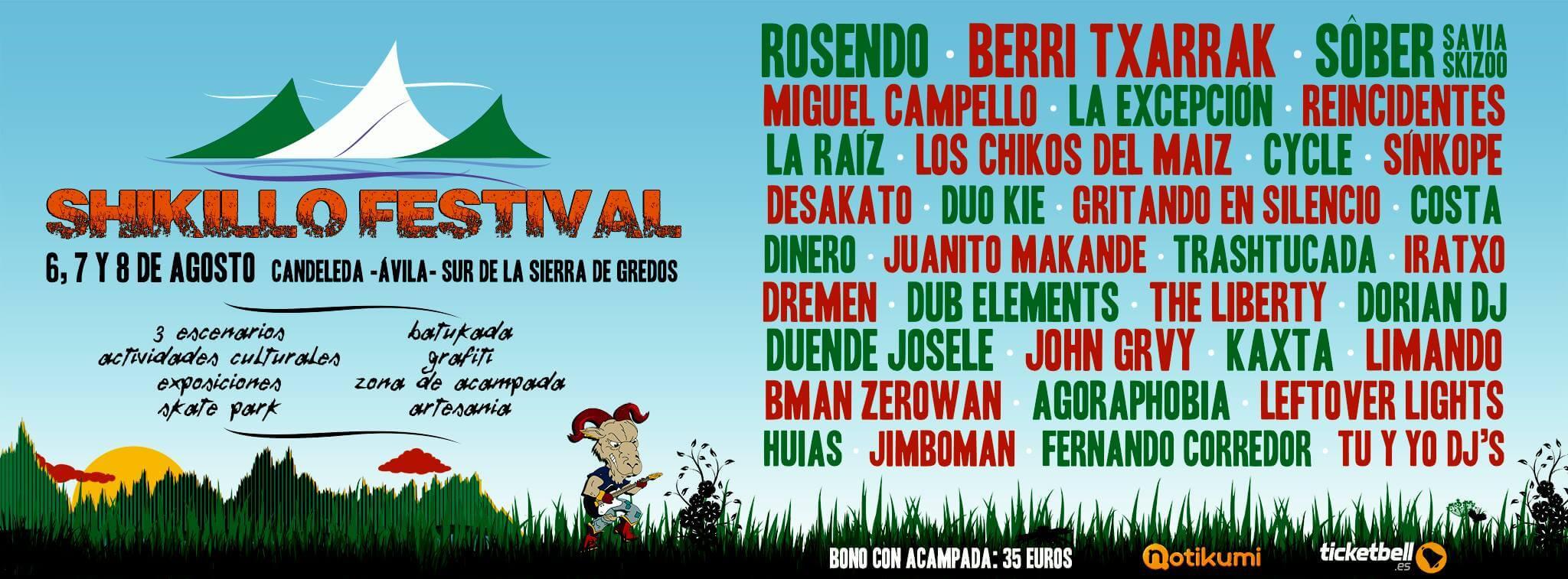 Shikillo Festival - Arenas de San Pedro (Ávila) @ Shikillo Festival | Arenas de San Pedro | Castilla y León | España