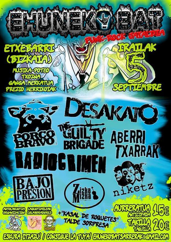 Festival EhunekoBat -  Etxebarri (Bizkaia) @ EhunekoBat | Etxebarri | Euskadi | España